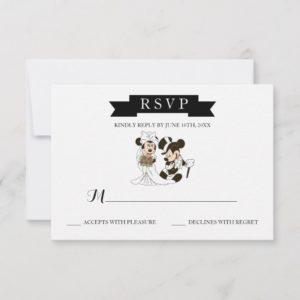 Mickey & Minnie Wedding | Married RSVP