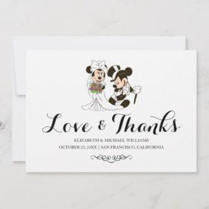 Mickey & Minnie Wedding | Married Thank You