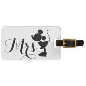 Mickey & Minnie Wedding | Mrs. Silhouette Bag Tag