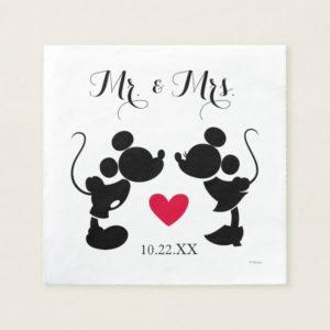 Mickey & Minnie Wedding | Silhouette Paper Napkin