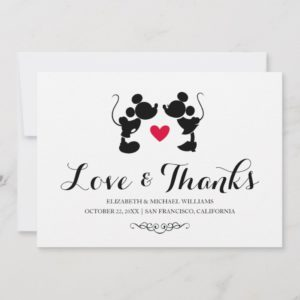 Mickey & Minnie Wedding | Silhouette Thank You