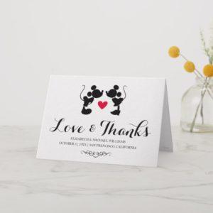 Mickey & Minnie Wedding | Thank You