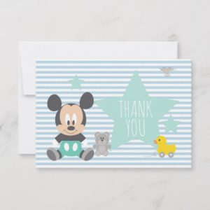 Mickey Mouse | First Birthday Thank You