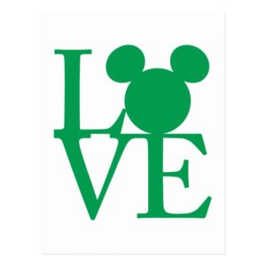 Mickey Mouse LOVE | St. Patrick's Day Postcard