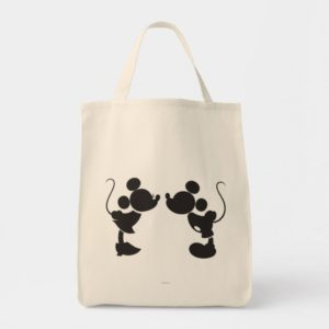 Mickey Mouse & Minnie  Silhouette Tote Bag