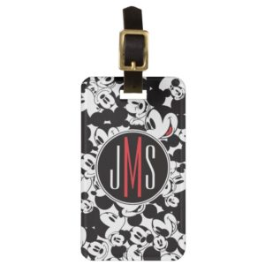 Mickey Mouse | Monogram Crowd Pattern Bag Tag