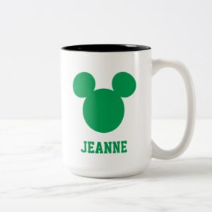 Mickey Mouse St. Patrick's Day   Add Your Name Two-Tone Coffee Mug