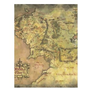 MIDDLE EARTH™ #2 Map Postcard