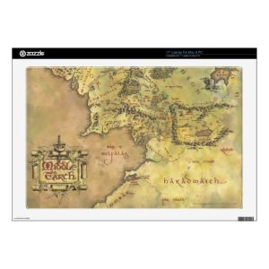 Middle Earth Map Decal For Laptop