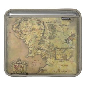 Middle Earth Map iPad Sleeve