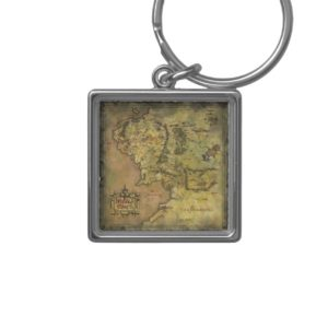 Middle Earth Map Keychain