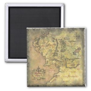 Middle Earth Map Magnet