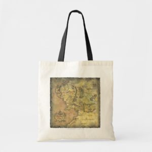 Middle Earth Map Tote Bag