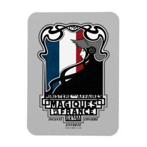 Ministère des Affaires Magiques de la France Logo Magnet