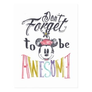 Minnie | Don't Forget To Be Awesome Postcard