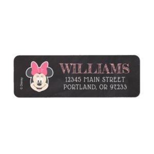 Minnie Mouse Birthday Chalkboard Label