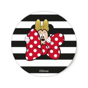 Minnie Mouse | Bow Tie Classic Round Sticker