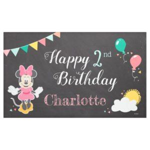 Minnie Mouse Chalkboard Birthday Banner