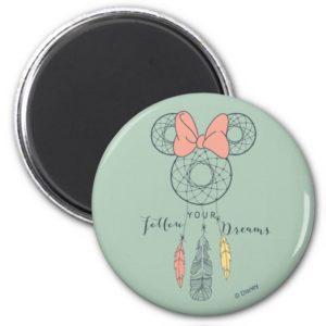 Minnie Mouse Dream Catcher   Follow Your Dreams Magnet