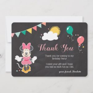 Minnie Mouse Icon Chalkboard | Thank You