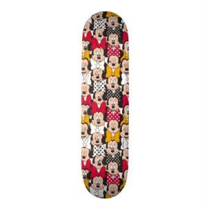 Minnie Mouse   Pattern Skateboard