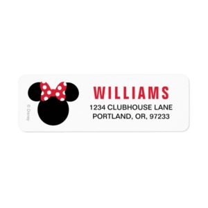 Minnie Mouse | Red and White Birthday Label