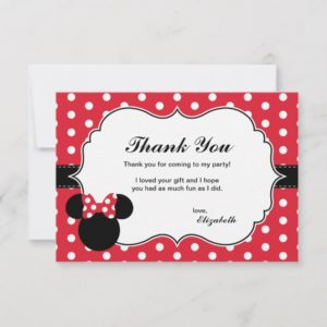 Minnie Mouse | Red & White Polka Dot Thank You