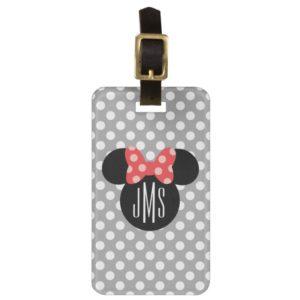 Minnie Polka Dot Head Silhouette | Monogram Bag Tag