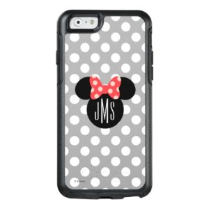 Minnie Polka Dot Head Silhouette | Monogram OtterBox iPhone Case