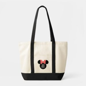 Minnie Polka Dot Head Silhouette | Monogram Tote Bag