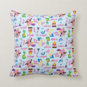 Mixed Emotions Pattern Throw Pillow