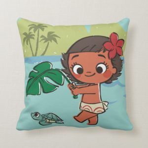 Moana | Born to be in the Sea Throw Pillow