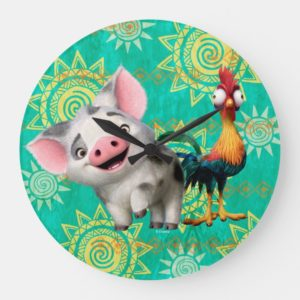 Moana | First Mate & Top Rooster Large Clock