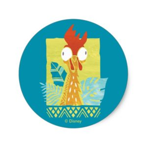Moana | Heihei - I'm In Charge Here Classic Round Sticker
