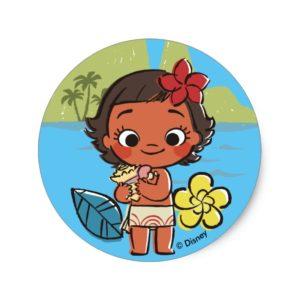 Moana | Island Daughter Classic Round Sticker