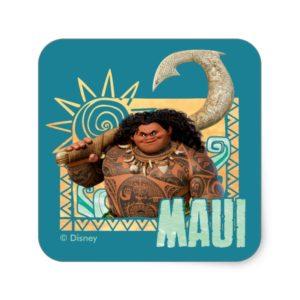 Moana   Maui - Original Trickster Square Sticker