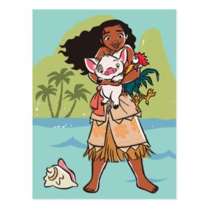 Moana   Pua & Heihei - Voyagers Postcard