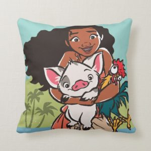Moana   Pua & Heihei - Voyagers Throw Pillow