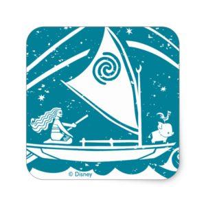 Moana | Star Reader Square Sticker