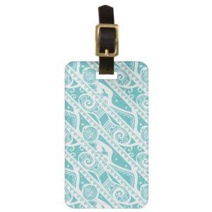 Moana | Teal Tribal Pattern Bag Tag