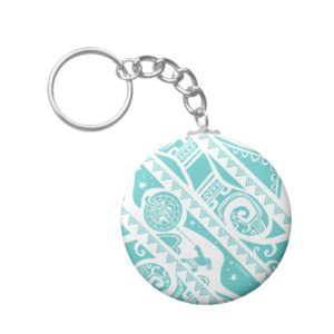 Moana | Teal Tribal Pattern Keychain
