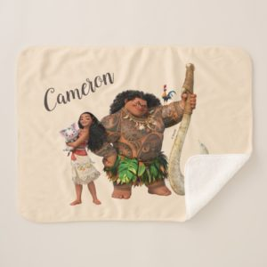 Moana | The Ocean Connects Us Sherpa Blanket