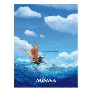 Moana   The Ocean Is Calling Postcard