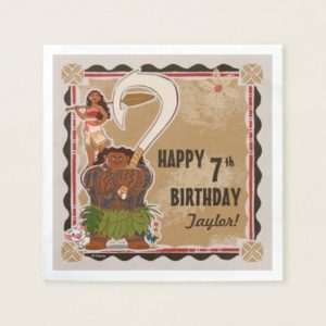Moana | Tribal Birthday Napkin