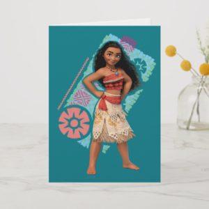 Moana   Vintage Island Girl Card