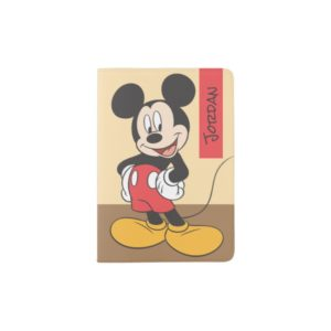 Modern Mickey | Side Hands on Hips - Add Your Name Passport Holder