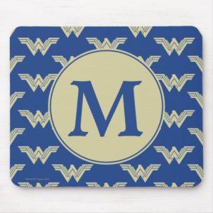 Monogram Wonder Woman Logo Pattern Mouse Pad