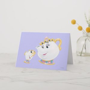 Mrs. Potts and Chip Card