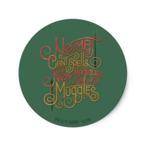 MUGGLE™ Localized Translations Graphic Classic Round Sticker