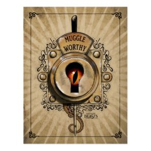 MUGGLE WORTHY™ Lock Postcard